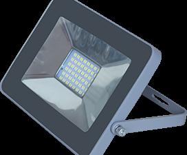 Ecola Projector  LED  20,0W 220V 2800K IP65 Светодиодный Прожектор тонкий Серебристо-серый 146x102x1