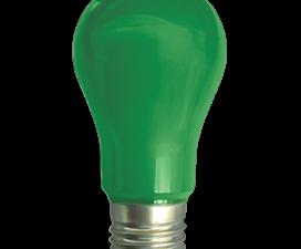 Ecola classic   LED color  8.0W A55 220V E27 Green Зеленая 360° (композит) 108×55
