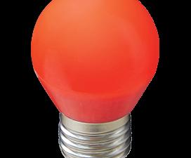 Ecola globe   LED color  5,0W G45 220V E27 Red шар Красный матовая колба 77×45