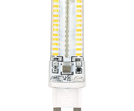 Ecola G9  LED  5.0W Corn Micro 220V 2800K 320° 62×16