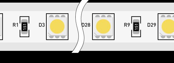 Лента светодиодная 220, SMD5050, 60LED/м, кат  50м, 14,4 Вт/м, IP68, Холодный белый  (6000-6500К Холодный белый)