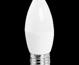 Ecola candle   LED Premium  9,0W 220V E27 6000K свеча (композит) 100×37