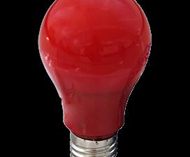 Ecola classic   LED color 12,0W A60 220V E27 Red Красная 360° (композит) 110×60