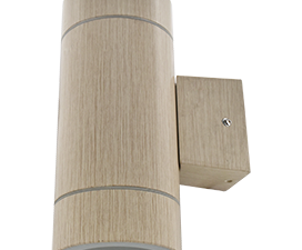 Ecola GX53 LED 8013A светильник накладной IP65 прозрачный Цилиндр металл. 2*GX53 Светлое дерево 205x