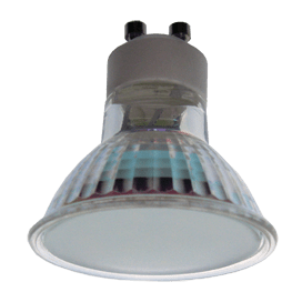 Ecola Light Reflector GU10  LED  3W 220V GU10 4200K матовое стекло 53х50