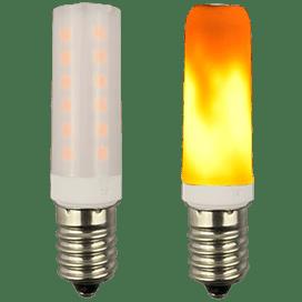 Ecola T25 LED Micro 1,0W E14 Flame имитация пламени 64×16 mm