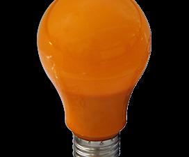 Ecola classic   LED color 12,0W A60 220V E27 Orange Оранжевая 360° (композит) 110×60