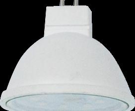 Ecola MR16   LED  5.4W 220V GU5.3  4200K прозрачное стекло (композит) 48×50