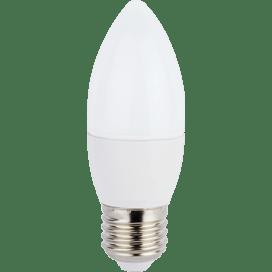 Лампа светодиодная Ecola candle LED Premium 7.0W 220V E27 4000 К свеча (композит) 103×37