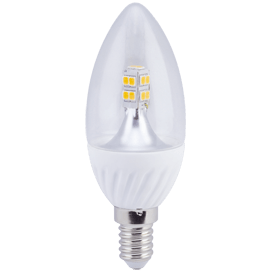 Ecola candle   LED  4.0W 220V E14 4000K 320° прозрачная свеча искристая точка 98х37
