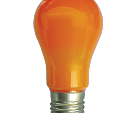 Ecola classic   LED color  8.0W A55 220V E27 Orange Оранжевая 360° (композит) 108×55