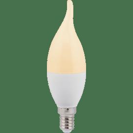 Ecola candle   LED  7.0W 220V E14  золотистая свеча на ветру  (композит) 130×37