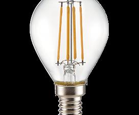 Ecola globe   LED Premium  6,0W G45 220V E14 2700K 360° filament прозр. нитевидный шар (Ra 80, 100 L