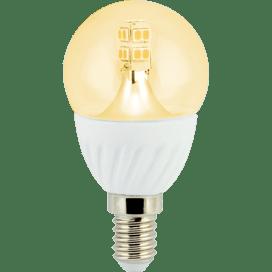 Ecola globe LED Premium 4.0W G45 220V E14 золотистый 320° прозрачный шар искристая точка 86х45