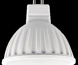 Ecola MR16   LED  8,0W  220V GU5.3 4200K матовое стекло (композит) 51×50
