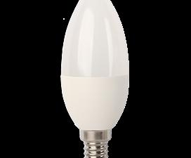 Ecola Light candle   LED  7,0W 220V E14 4000K свеча (композит) 105×37