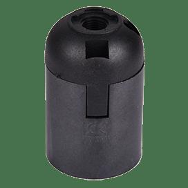 Ecola base Патрон  подвесной E27 Черный (1 из ч/б уп. по 10)