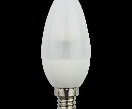 Ecola candle   LED  4,2W 220V E14 2700K полуматовая свеча искристая пирамида 98×36