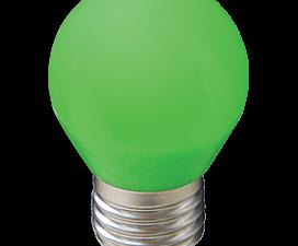 Ecola globe   LED color  5,0W G45 220V E27 Green шар Зеленый матовая колба 77×45