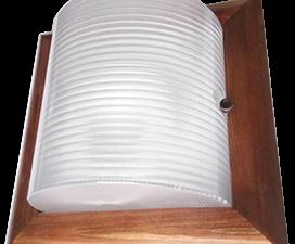 Ecola GX53 LED НББ-04-60-022 светильник Квадрат накладной IP65 дерево Орех 2*GX53  245х245х110