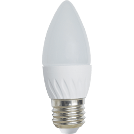 Ecola Light candle   LED  6,0W 220V E27 4000K свеча 100×37
