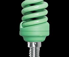 Ecola Spiral Color 12W 220V E14 Green Зеленый 95×43