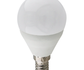 Ecola globe   LED Premium 10,0W G45  220V E14 2700K шар (композит) 82×45