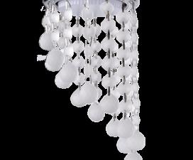 """Ecola GX53 H4 5344 Glass Круглый с большими хрусталиками на подвесе """"под скос"""" Матовый /Хром 225×110"""