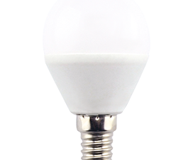 Ecola Light Globe  LED  7,0W G45  220V E14 2700K шар (композит) 82×45 (1 из ч/б уп. по 4)