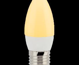 Ecola candle   LED 6.0W 220V E27 золотистая свеча (композит) 101×37