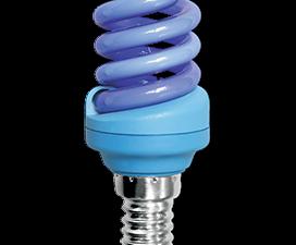 Ecola Spiral Color 12W 220V E14 Blue Синий 95×43