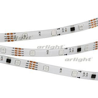 Лента SPI-5000SE-5060-30 12V Cx3 RGB-Auto (10mm, 6.5W, IP65)