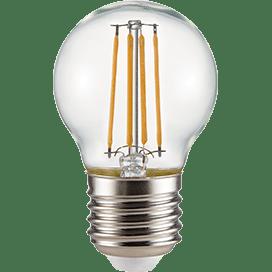 Ecola globe   LED Premium  6,0W G45 220V E27 6000K 360° filament прозр. нитевидный шар (Ra 80, 100 L