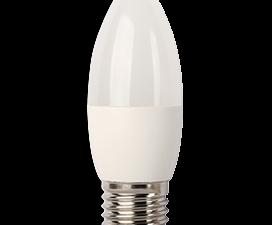 Ecola candle   LED  7,0W 220V E27 6000K свеча (композит) 103×37