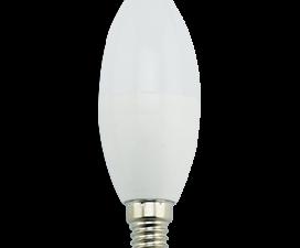 Ecola candle   LED Premium  9,0W 220V E14 2700K свеча (композит) 100×37