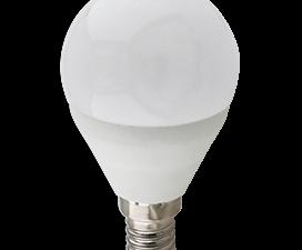 Ecola globe   LED Premium 10,0W G45  220V E14 6000K шар (композит) 82×45