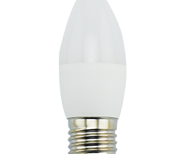 Ecola candle   LED Premium  9,0W 220V E27 4000K свеча (композит) 100×37