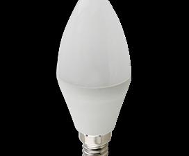 Ecola candle   LED Premium 10,0W 220V E14 2700K свеча (композит) 100×37