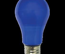 Ecola classic   LED color  8.0W A55 220V E27 Blue Синяя 360° (композит) 108×55