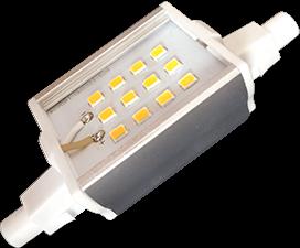 Ecola Projector   LED Lamp Premium  6,0W F78 220V R7s 4200K (алюм. радиатор) 78x20x32