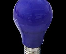 Ecola classic   LED color 12,0W A60 220V E27 Blue Синяя 360° (композит) 110×60