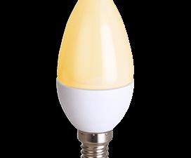 Ecola candle   LED Premium  8,0W 220V E14 золотистая свеча (композит) 100×37