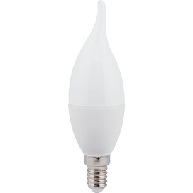 Лампа светодиодная Ecola candle LED Premium 7.0W 220V E14 2700 К свеча на ветру (композит) 130×37