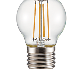 Ecola globe   LED Premium  6,0W G45 220V E27 2700K 360° filament прозр. нитевидный шар (Ra 80, 100 L
