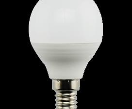 Ecola globe   LED Premium  9,0W G45  220V E14 4000K шар (композит) 82×45