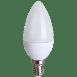 Ecola candle   LED  8,0W 220V E14 4000K свеча (композит) 100×37
