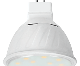 Ecola MR16   LED Premium 10.0W  220V GU5.3 4200K прозрачное стекло (композит) 51×50