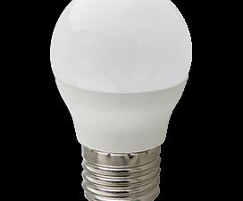 Ecola globe   LED Premium 10,0W G45  220V E27 2700K шар (композит) 82×45