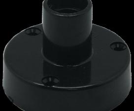 Ecola base Патрон накладной безрезьбовой прямой с винтовыми клеммами E14 Черный
