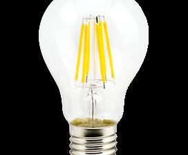 Ecola classic   LED Premium  8,0W A60 220-240V E27 2700K 360° filament прозр. нитевидная (Ra 80, 100